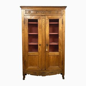 French Louis XV Cherry Wall Unit