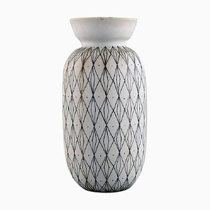 Filigree Vase with Geometric Decoration by Stig Lindberg for Gustavsberg