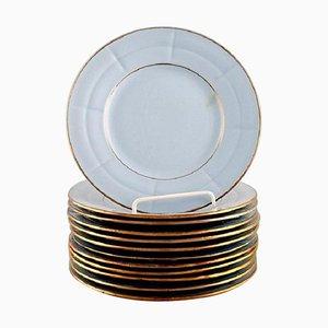 Art Deco Plates by Arthur Percy for Upsala-Ekeby, 1930s, Set of 12