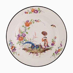 Antike Meissen Schale aus handbemaltem Porzellan im japanischen Stil, 19. Jh