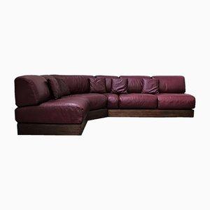 Vintage Durlet Oxblood Modulares Sofa