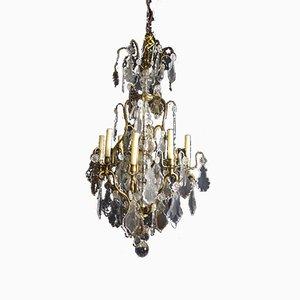 Kristallglas & Bronze Kronleuchter