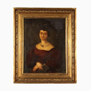 Retrato femenino, óleo sobre lienzo