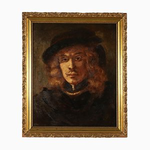 Male Portrait Painting, Oil on Canvas