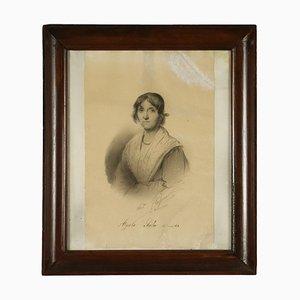 Lampe Andrea Fleissner, Papier Portrait, Charbon & Blanc sur Papier