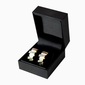 14kt Gold & Enamel Stud Earrings, Set of 2
