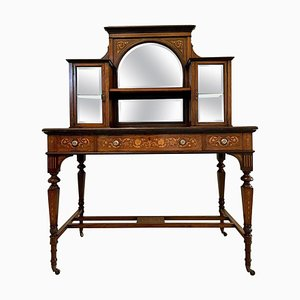 Antique 19th-Century Victorian Inlaid Marquetry Writing Desk
