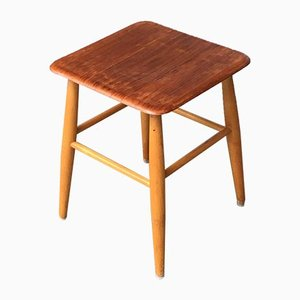 Mid-Century Swedish Stool from Edsby Verken