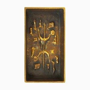 Posacenere brutalista in bronzo di Alfieri Gardone per Lauterbach, anni '60