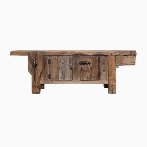 Antique Wood Worktable