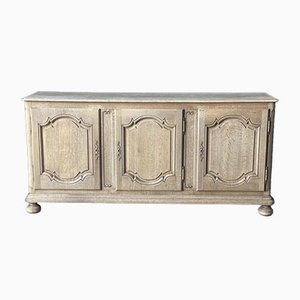 French Bleached Oak Sideboard, 1800s