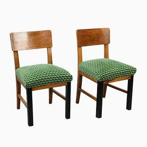 Vintage Art Deco Esszimmerstühle, 2er Set
