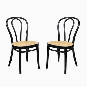 Antique Black 218 Chairs by Michael Thonet for Thonet, Set of 2