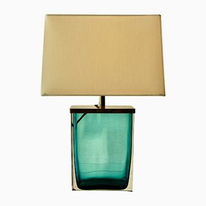 Mid-Century Murano Glass Table Lamp by Paolo Venini for Venini