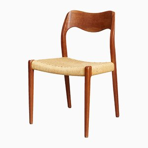 Vintage Danish No. 71 Dining Chairs by Niels O. Moller for J. L Moller, 1960s, Set of 4