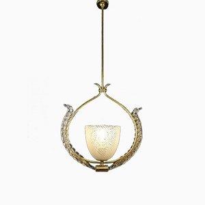 Lampada da soffitto Reticello di Carlo Scarpa per Venini, anni '30