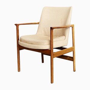 Mid-Century Rosewood Armchair by Ib Kofod Larsen for Fröscher KG, 1960s