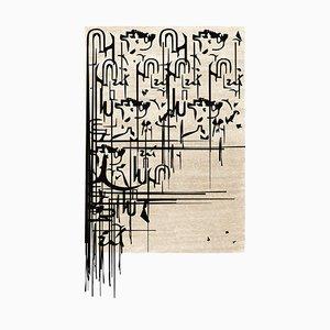 Schwarzer Ink Teppich von Covet Paris
