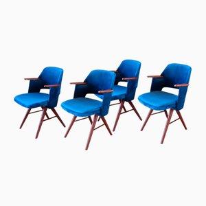 Teak FT30 Esszimmerstühle von Cees Braakman für Pastoe, 1960er, 4er Set