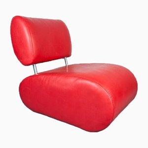 Rote Vintage Sessel, 1980er, 2er Set