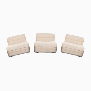 Vintage Modular Lounge Chairs by Tito Agnoli for Arflex, 1970s, Set of 3