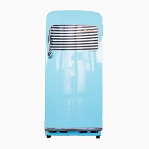 Vintage Blue Fiat 9005 Refrigerator, 1950s