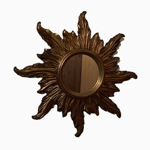 Mid-Century Gilded Sun Mirror from Firma Wenz, 1960s