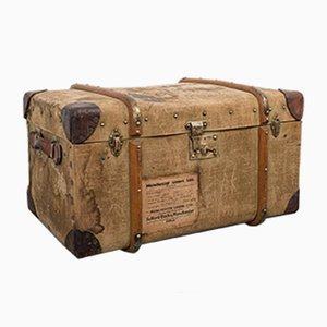 Antique Steamer Trunk, England, 1910s
