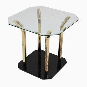 Italienischer Beistelltisch aus Glas & Messing, 1970er