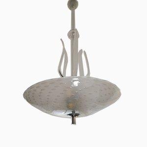 Lampada da soffitto Bullicante in vetro di Ercole Barovier per Barovier & Toso, anni '50