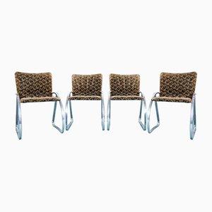 Chaises de Salon Vintage par Renato Zevi, 1970s, Set de 4