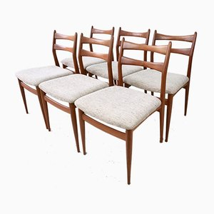 Mid-Century Teak Dining Chairs, 1960s, Set of 6