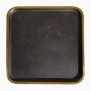 Brass Tray by Karl Hagenauer, 1930s