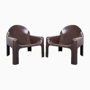 Vintage Lounge Chairs by Gae Aulenti for Kartell, 1970s, Set of 2