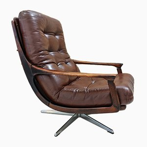 Vintage Leatherette Swivel Chair