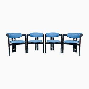 Chaises de Salon Vintage par Augusto Savini pour Pozzi, 1960s, Set de 4