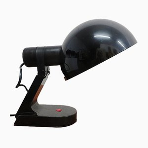 Black Plastic Table Lamp from Guzzini, 1970s