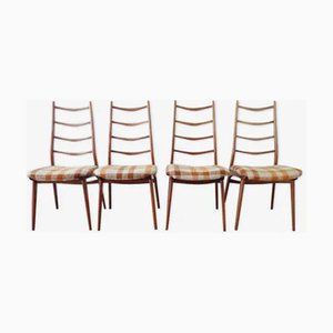 Mid-Century German Teak Dining Chairs from Habeo, 1960s, Set of 4