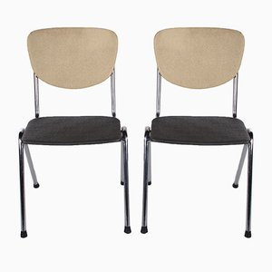 Kitchen Chairs in the Style of Gispen, 1960s, Set of 2