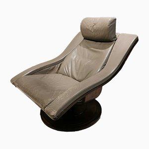 Grauer Vintage Sessel, 1980er