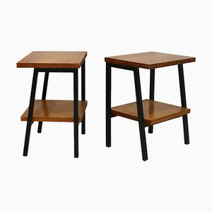 Vintage Guariche Style Nightstands, 1950s, Set of 2