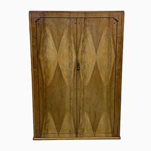 English Art Deco Walnut Wardrobe from Maple, 1930s