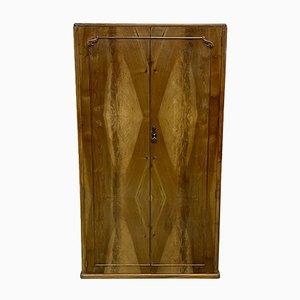 Englischer Kleiderschrank aus Nussholz von Maple, 1930er