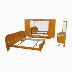 Set da letto in acero di Vittorio Dassi, anni '50, set di 3