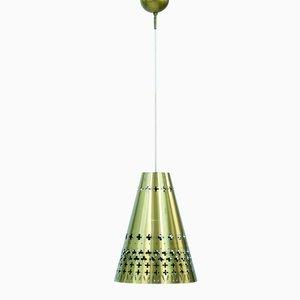 Lámpara colgante de latón de Hans Bergström para Ateljé Lyktan, años 50