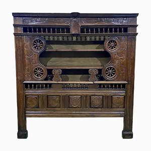 19th Century Oak Wall Unit