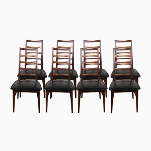 Danish Rosewood Liz Chairs by Niels Koefoed for Koefoeds Hornslet, 1960s, Set of 8