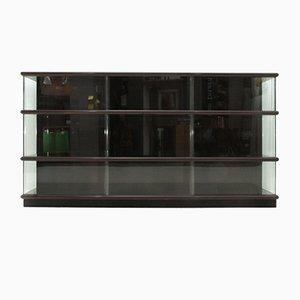 Librería de madera lacada y vidrio de Eugenio Gerli para Tecno, años 70