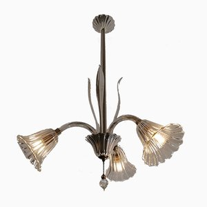 Three-Light Ceiling Lamp by Ercole Barovier for Barovier & Toso, 1950s