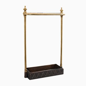 Antique French Brass Stick or Umbrella Stand, 1850s